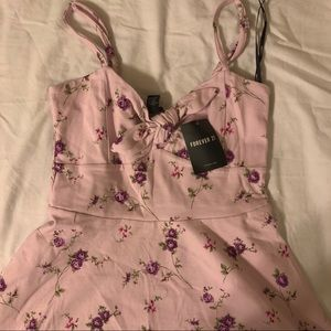Floral pink strappy dress